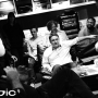 Meanwhile, the bosses and new owners of Absolute Radio, including Clive Dickens, wait in anticipation in the control room at Studio 2