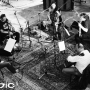 Finally...we add in some strings and things from the string quartet. Small string sections like this rather than big orchestras are featured on many Beatles tracks and, more recently, Oasis records (also recorded in Studio 2 at Abbey Road) ... then it's back to Music 4 to do all the mixing and editing.