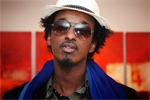 K'Naan waves his world cup flag at Music 4